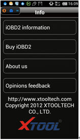 IOBD2 Diagnostic Tool display 9