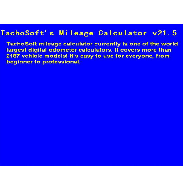 new arrival tachosoft mileage calculator v21 5