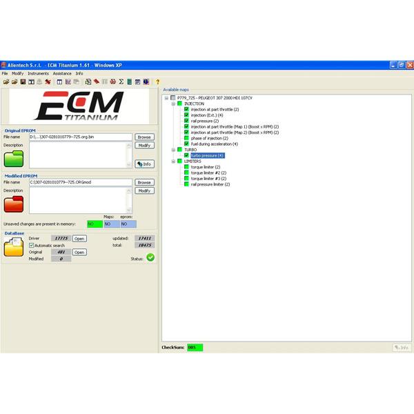 ecm titanium full  driver maker