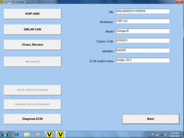 Opcom OP-Com 2010 V Can OBD2 for OPEL Firmware Software  Display 5