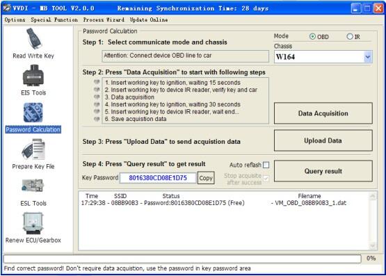 VVDI2 BAG MBTOOL BENZ Password Calculation Token Display
