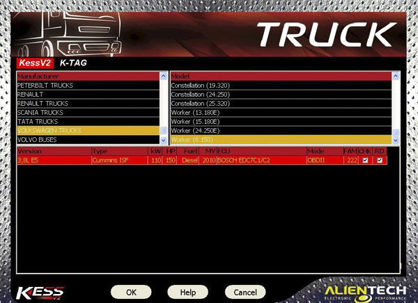 V4.024 Truck Version KESS V2 Display 1