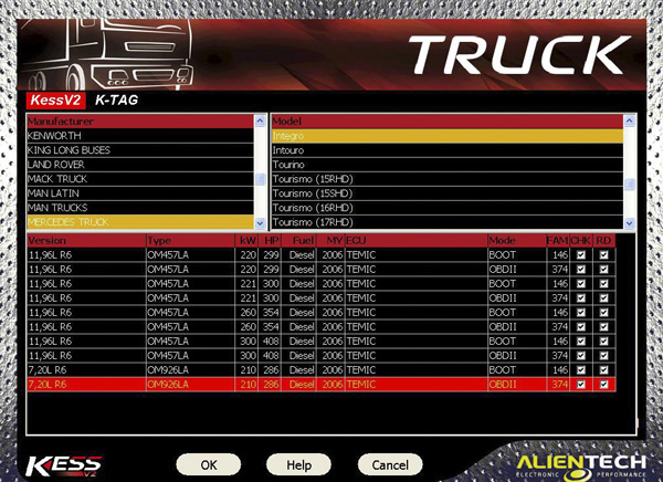V4.024 Truck Version KESS V2 Display 2
