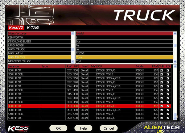 V4.024 Truck Version KESS V2 Display 3