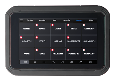 Front View of EZ300 Tablet Display