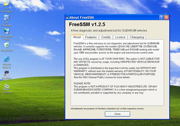 SUBARU FreeSSM Software Display 4