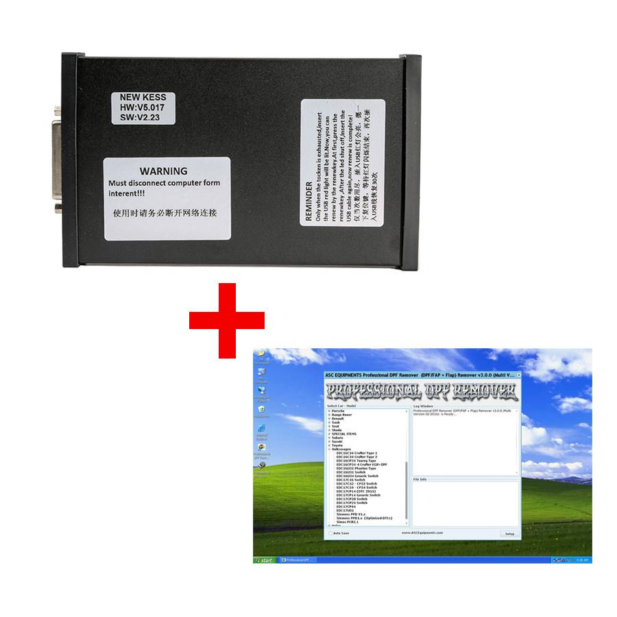 [UK Ship No Tax] V5 017 KESS V2 Plus DPF+EGR Remover 3 0 Lambda Hotstart  Flap O2 DTC 2 Full Software