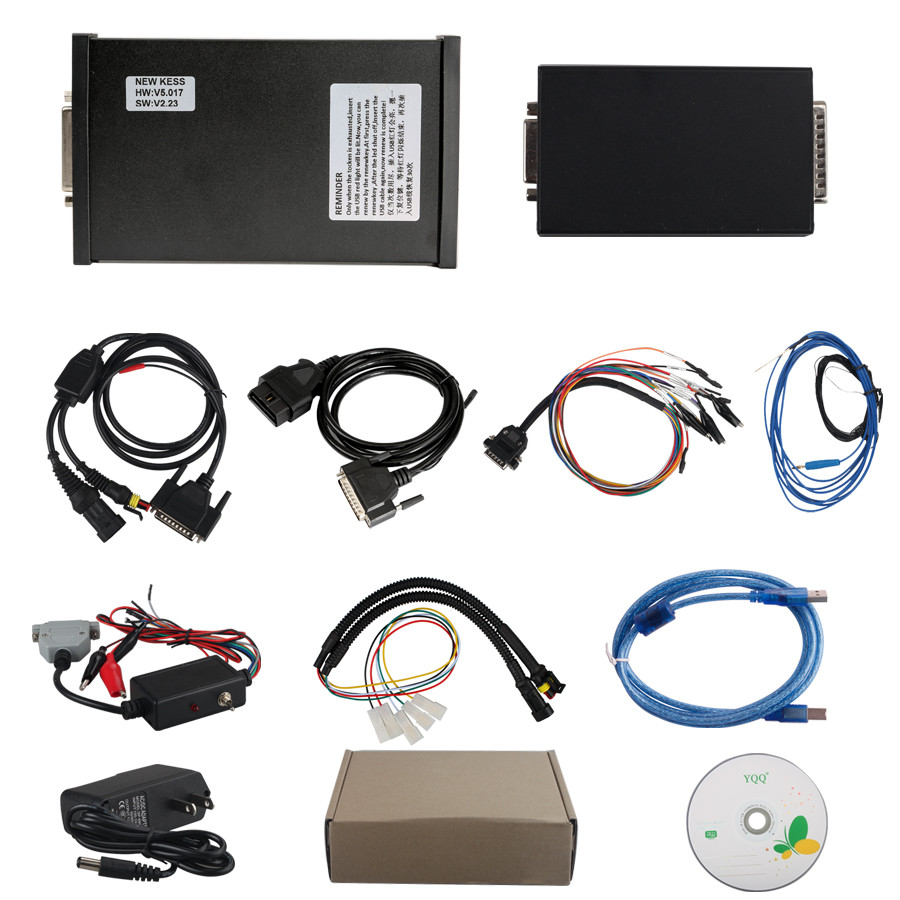 [UK Ship No Tax] Newest V2 47 KESS V2 V5 017 Manager ECU Tuning Kit Master  Version with Reset Button No Token Limitation for Both Car and Trucks