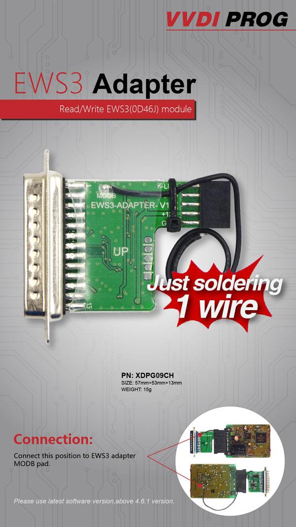 Xhorse EWS3 Adapter for VVDI Prog Programmer 2
