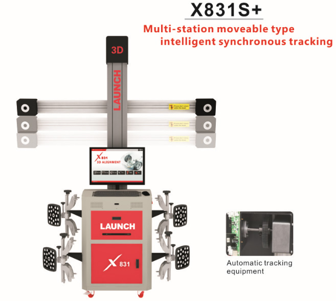 Original LAUNCH X831S+ X831Plus 3D 4-Post Car Alignment Lifts Platform