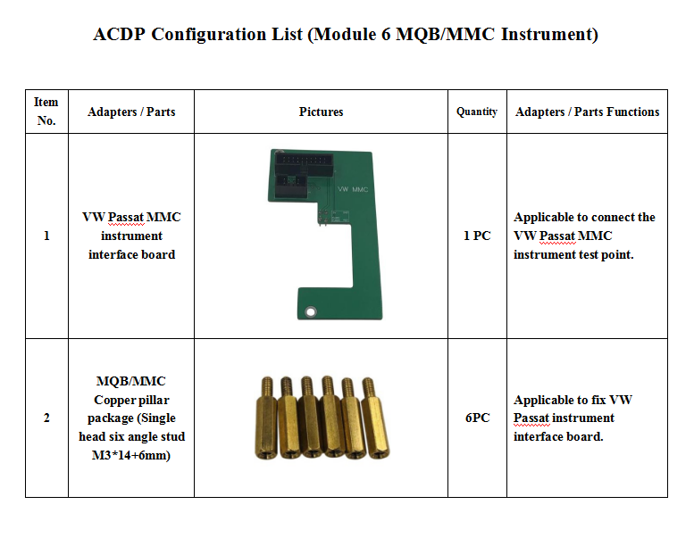 Yanhua Mini ACDP Module 6 MQB/MMC Instrument