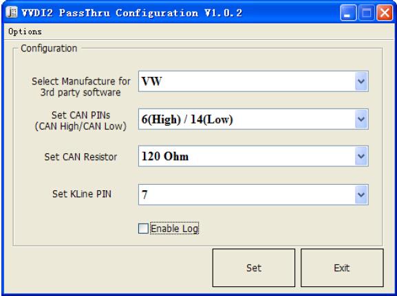 VVDI2 – PassThru J2534 Configuration software