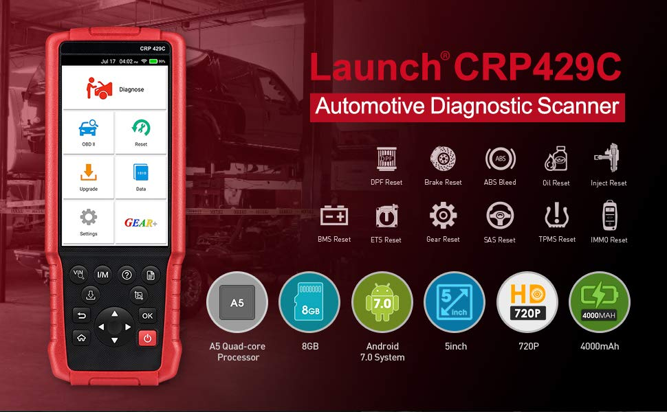 [7% Off $231 57] LAUNCH X431 CRP429C Auto Diagnostic Tool for  Engine/ABS/SRS/AT+11 Service CRP 429C OBD2 Code Scanner Better than CRP129