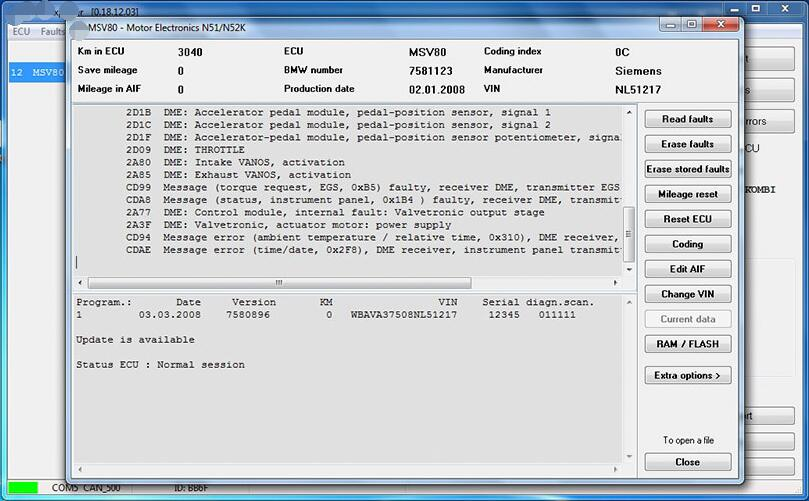 V2018.12 BMW E/F Scanner II Full Version