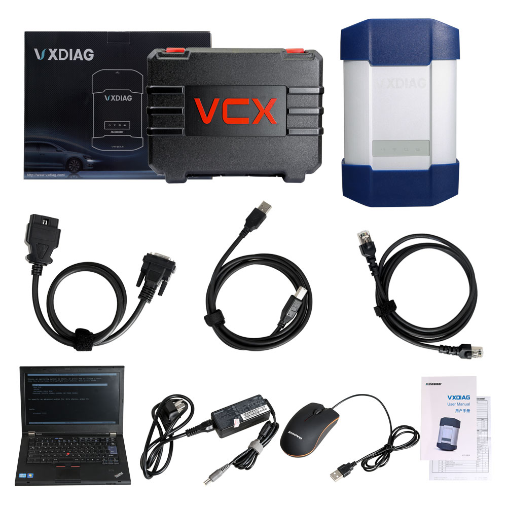 VXDIAG Multi Diagnostic Tool for Full Brands Honda Gm VW Ford Mazda Toyota Piwis Subaru Volvo Bmw/Benz with 2TB HDD & Lenovo T420