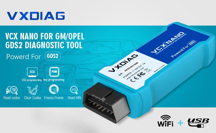 VXDiag VCX NANO for GM/OPEL with Wifi