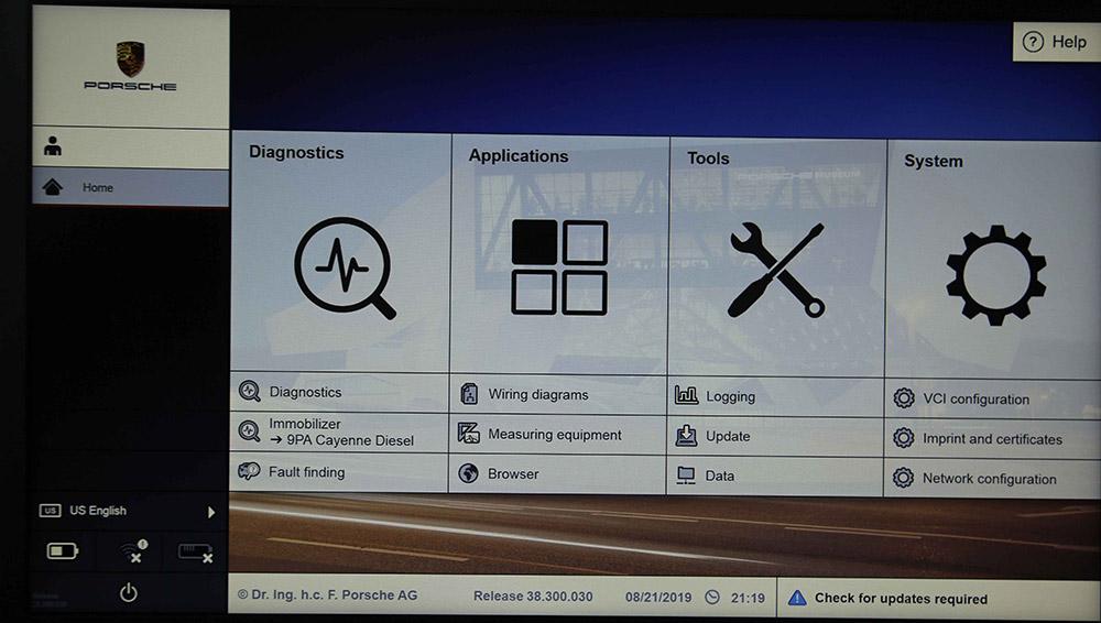 VXDIAG Porsche Tester III Piwis3 License with V38.300.030 Software SSD 240G and Lenovo T440P Laptop