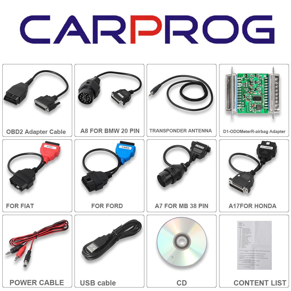 Carprog Full V8.21 Software V10.05//V10.93 Version with All 21° Cable 40/%OFF A