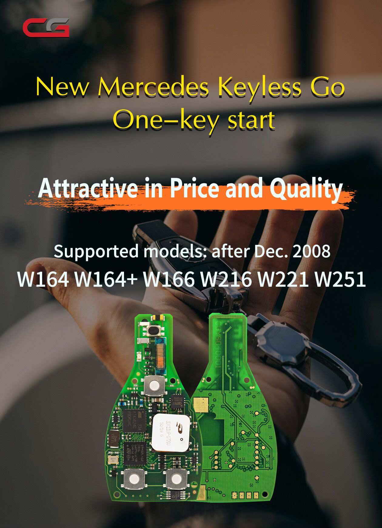 MB FBS3 BGA KeylessGo Key 315MHZ for W164 W166 W216 S221 W251