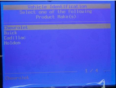 Gm Tech2 software display 2