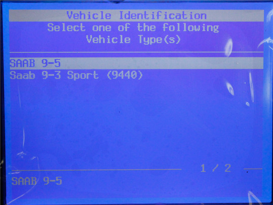 GM Tech2 SAAB Software Display 2