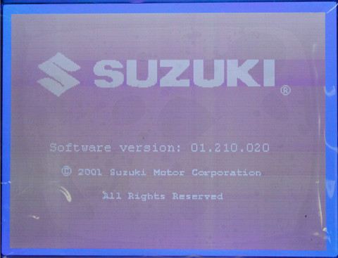 GM Tech2 SUZUKI software display