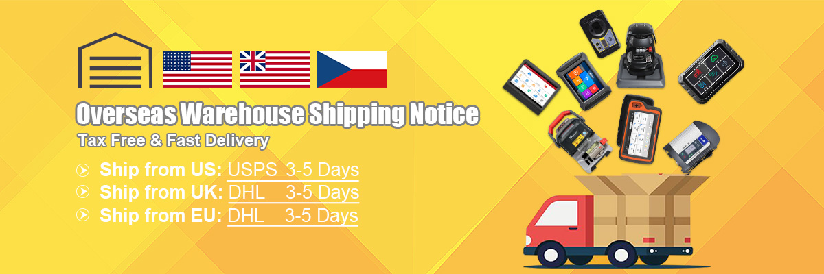 UOBDII Overseas Warehouse Fast Shipping with Tax Free
