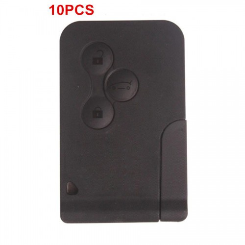 3 Button Smart Key 433MHZ For Renault 10pcs