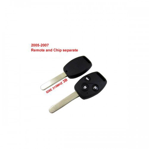Remote Key 3 Button and Chip Separate ID:8E (315MHZ) Fit ACCORD FIT CIVIC ODYSSEY For 2005-2007 Honda