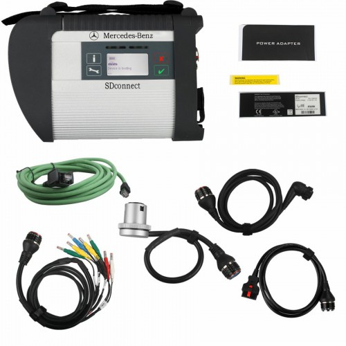 MB SD C4 Star Diagnosis with V2019.9 SSD Wireless for Cars and Trucks with Free DTS Monaco & Vediamo