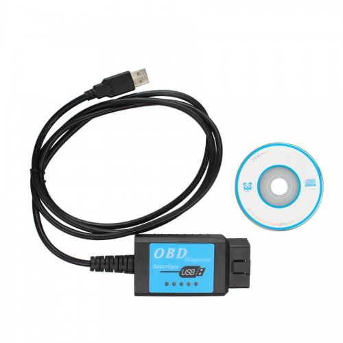 USB ELM327 V1.4 Plastic OBDII EOBD CANBUS Scanner with FT232RL Chip Software V2.1