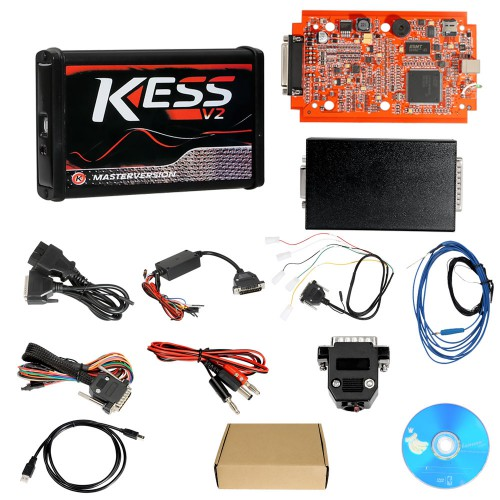 [UK Ship] Cheap Kess V2 V5.017 EU Version SW V2.53 with Red PCB Online Version Support 140 Protocol No Token Limited