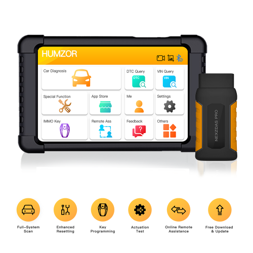 Humzor NexzDAS Pro Bluetooth 10inch Tablet Full System Auto Diagnostic Tool Professional OBD2 Scanner