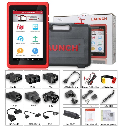 [US/UK Ship] Launch X431 ProS Mini Android Pad Multi-System Diagnostic & Service Tool Free Update Online for 2 Years
