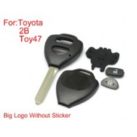 Remote Key Shell 2 Buttons TOY47 Big Logo With Paper for Toyota Corolla 10pcs/lot