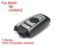 Remote Key 4 Buttons 433mhz 7953 Chips Silver Side for BMW CAS4 F Platform 7 Series