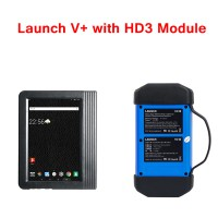 Launch X431 PRO3 Launch X431 V+ 10.1inch Tablet Global Version with HD3 Ultimate Heavy Duty Adapter Work on both 12V & 24V Cars and Trucks