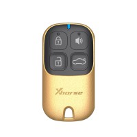 XHORSE XKXH02EN Universal Remote Key 4 Buttons Golden Style English Version for VVDI Key Tool 10pcs/lot