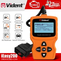 [US/RU/EU Ship] VIDENT iEasy200 OBDII/EOBD+CAN Code Reader for Vehicle Checking Engine Light Car Diagnostic Scan Tool
