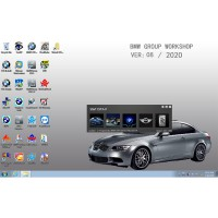 V2020.8 BMW ICOM Software ISTA-D 4.24.13 ISTA-P 3.67.1.000 with Engineers Programming Win7 System 500GB Hard Disk