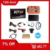 [7% Off $82.77] Cheap Kess V2 V5.017 EU Version SW V2.53 with Red PCB Online Version Support 140 Protocol No Token Limited Ship from US/UK