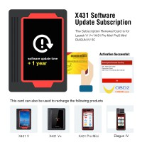 1 Year Update Service for Launch V/ V+/ X431 Pro Mini/ ProS Mini/ DIAGUN IV/ 5C