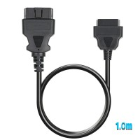 OBD2 16Pin Male to Female Extension Cable for ELM327 EasyDiag and M-DIAG