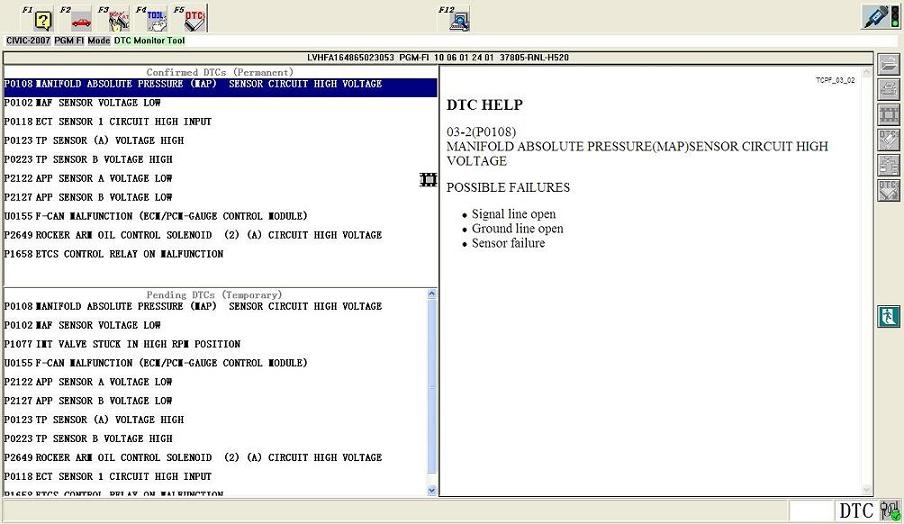 HDS Diagnostic Cable Software Display 3