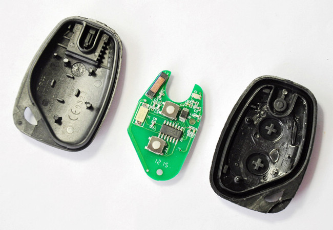 2 buttons pcb board for renault