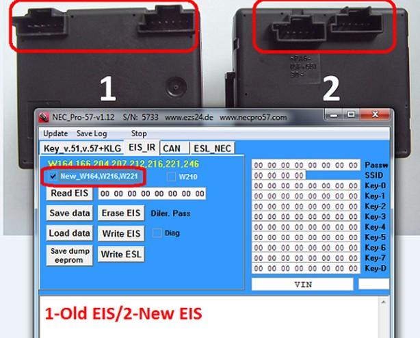 Mercedes Benz NEC PRO57 key programmer 6