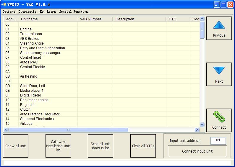 VVDI2 – VAG software