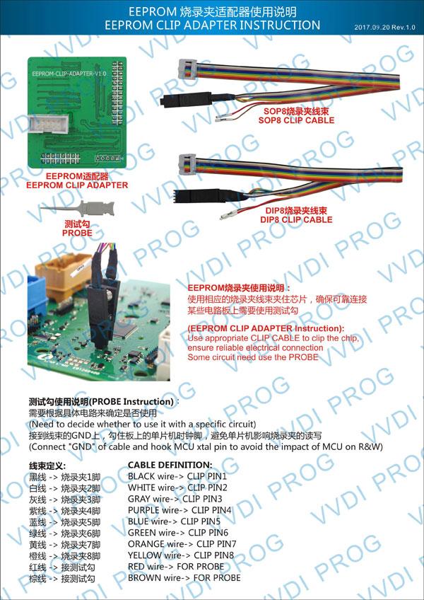 VVDI PROG Programmer EEPROM Clip Adapter 1