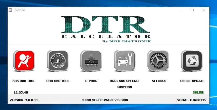 Diatronik SRS+DASH+CALC+EPS OBD Tool Latest Software