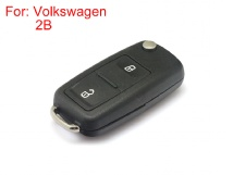 Remote Key Shell 2 Buttons with Waterproof HU66 for Volkswagen Touareg 10pcs/lot